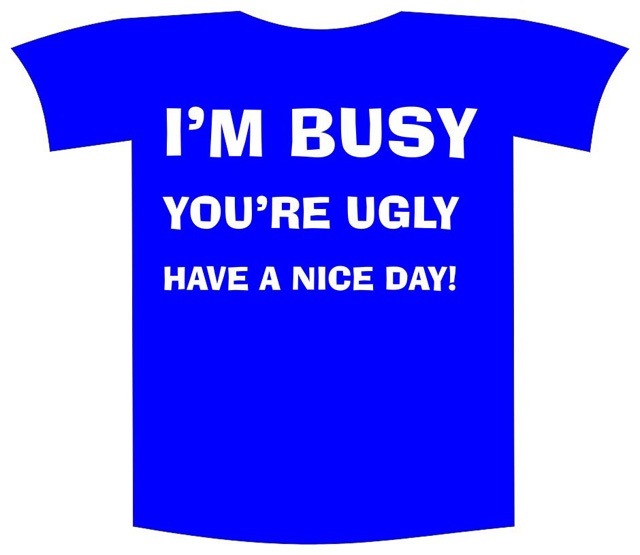 "Tricou imprimat ""I'm busy"" 0"