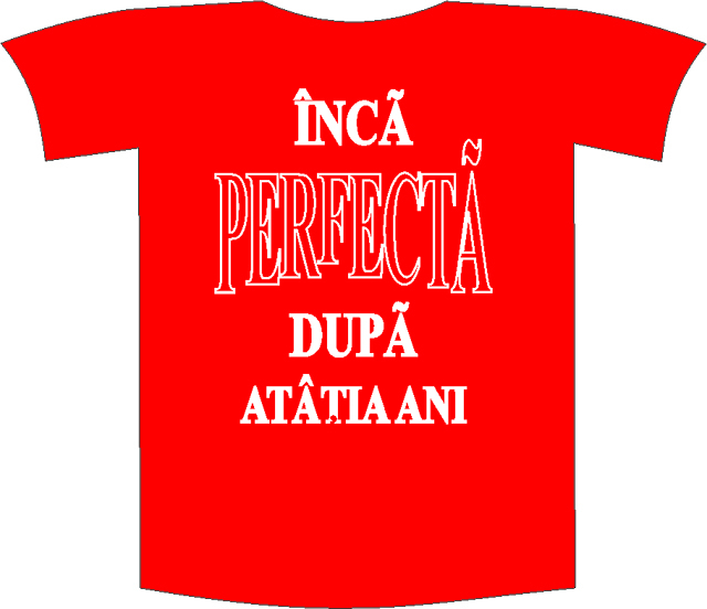"""Tricou imprimat """"Inca perfecta"""" 0"""