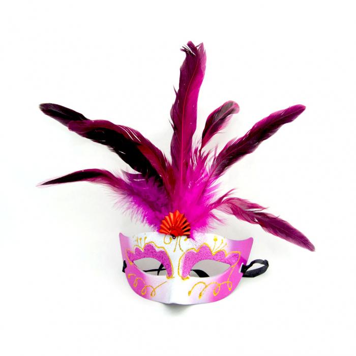 Masca Venetia pentru ochi cu pene 0