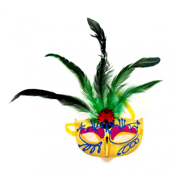 Masca Venetia pentru ochi cu pene 7