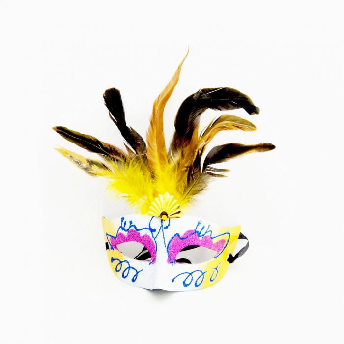 Masca Venetia pentru ochi cu pene 8