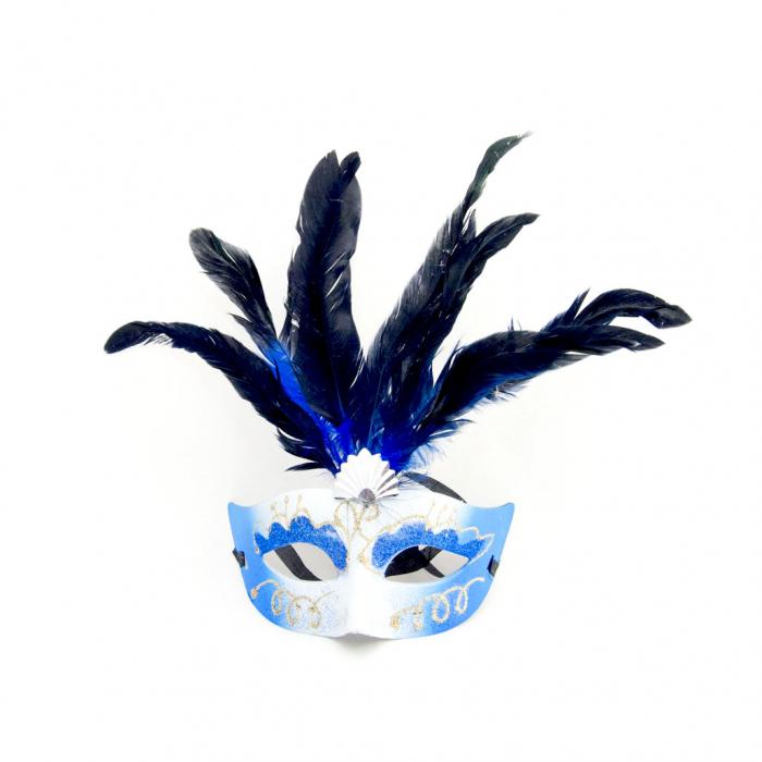 Masca Venetia pentru ochi cu pene 4