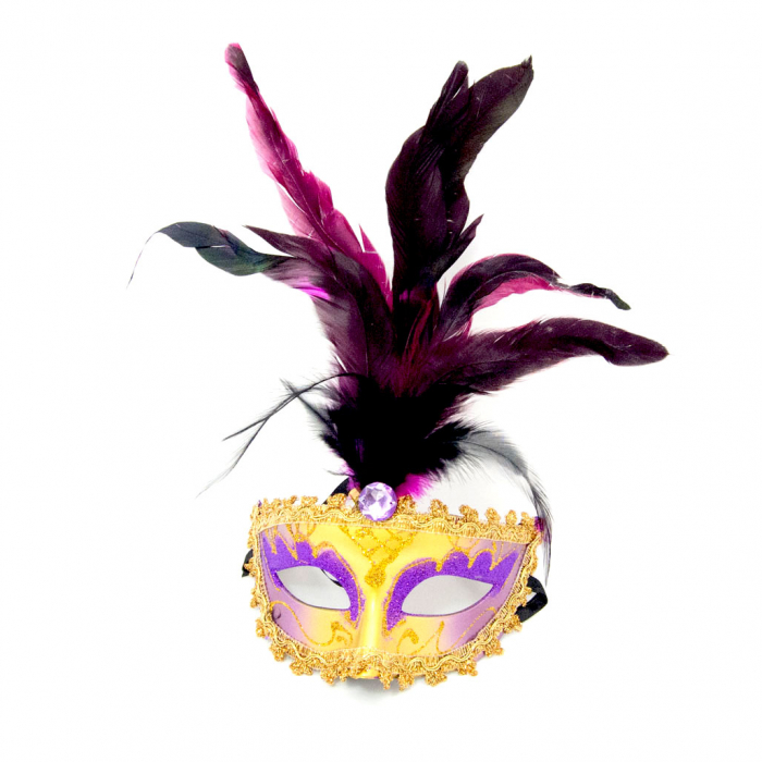 Masca Venetia pentru ochi cu pene 3