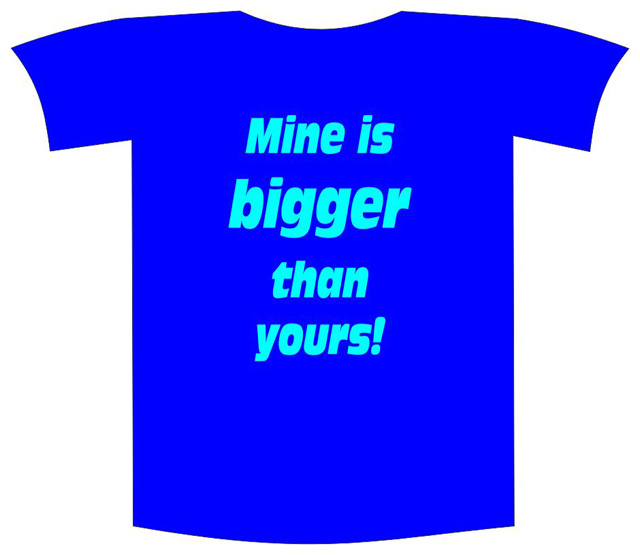 "Tricou imprimat ""Mine is bigger"" 0"