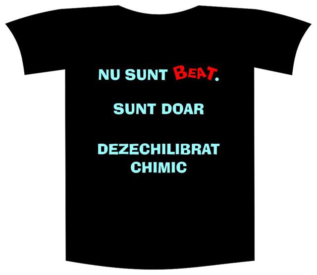 """Tricou imprimat """"Nu sunt beat"""" 0"""