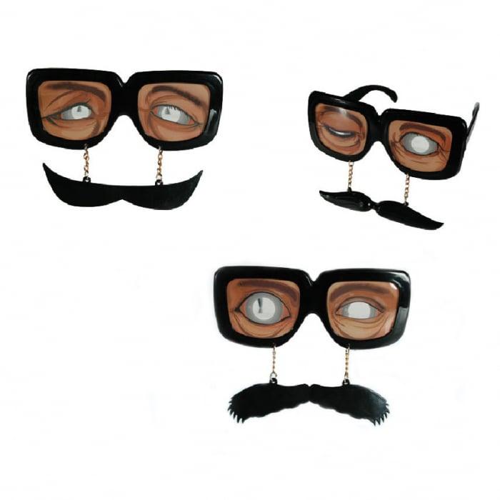 Ochelari plastic moustache 0