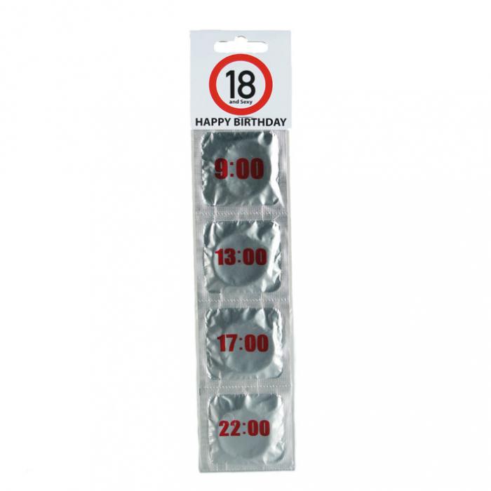 Prezervative Happy Birthday 18 & Hours