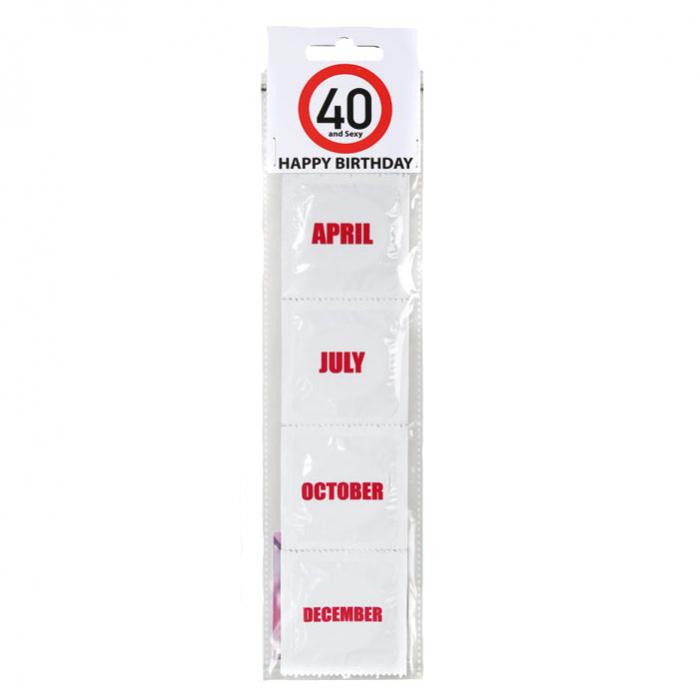 Prezervative Happy Birthday 40 & Months
