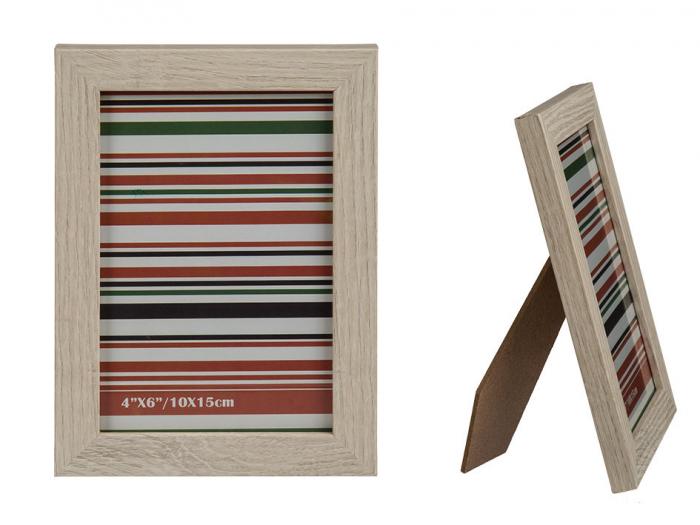 Rama foto din lemn, 10x15 cm 0