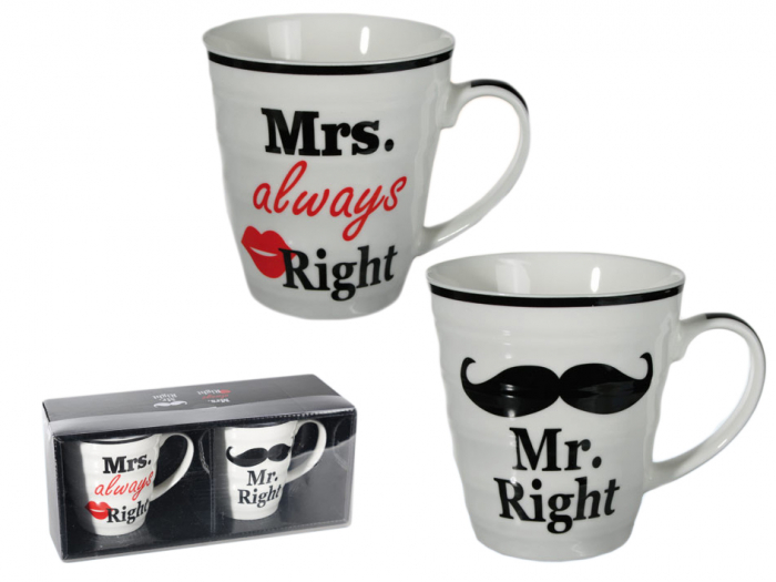 Set cani Mr. Right si Mrs. Always Right 0