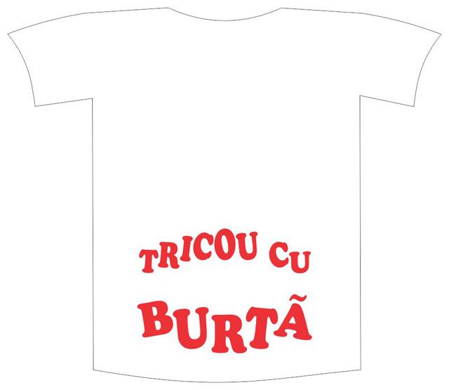 """Tricou imprimat """"Tricou cu burta"""" 0"""