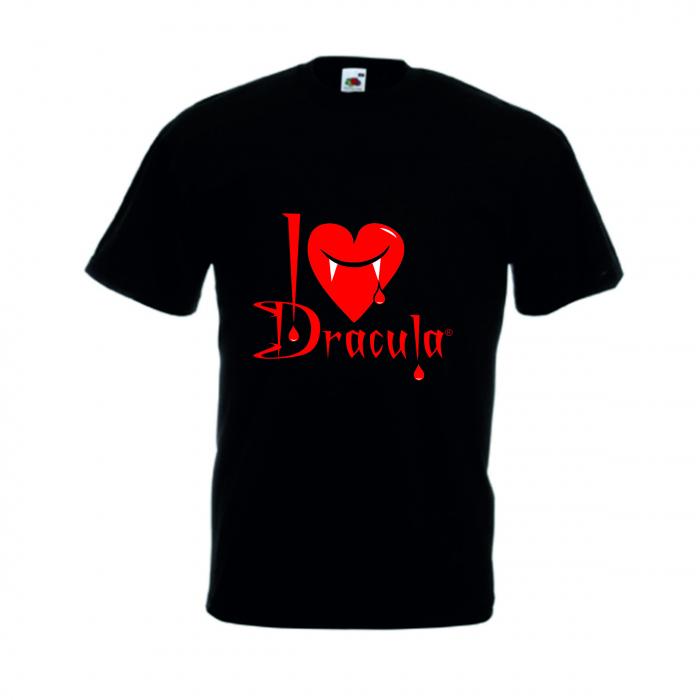 """Tricou imprimat """"I Love Dracula"""" 0"""