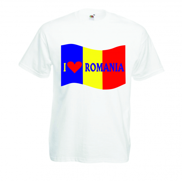 "Tricou imprimat ""I love Romania"" 0"
