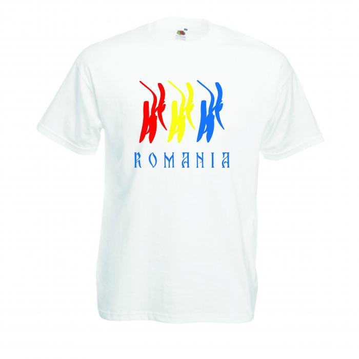 "Tricou imprimat ""Romania"" 0"
