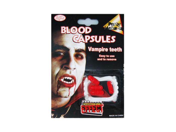 Dinti vampir cu 4 capsule sange 0