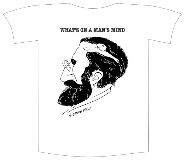 "Tricou imprimat ""What's on a man's mind"" 0"