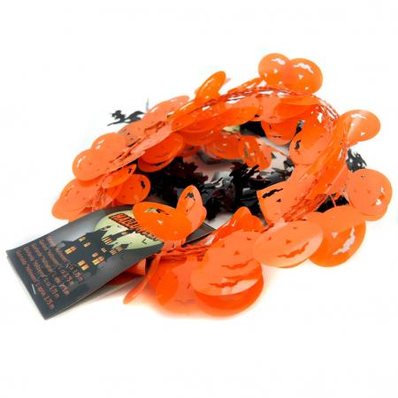 Ghirlanda plastic dovleac/ vrajitoare
