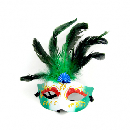 Masca Venetia pentru ochi cu pene9