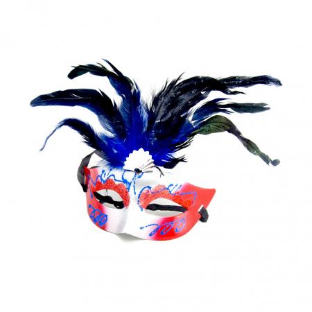 Masca Venetia pentru ochi cu pene5