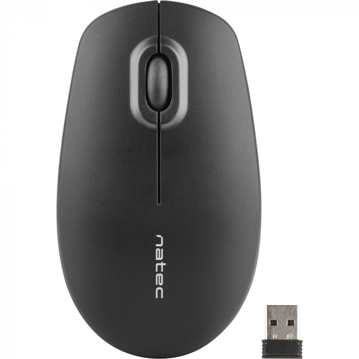 Mouse wireless Natec Merlin black 0