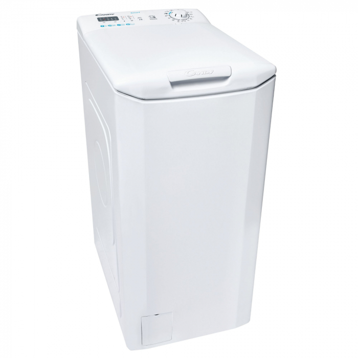 Masina de spalat rufe cu incarcare verticala Candy CST 27LE/1-S, 7 kg, 1200 RPM, Clasa F, Mix Power Systems, Kg Detector, Gentle touch opening, Alb [0]