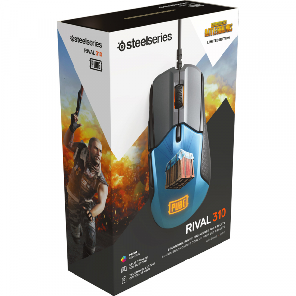 Mouse Gaming SteelSeries Rival 310 PUBG Edition, 12000 DPI, Optic-Editie Limitata [5]