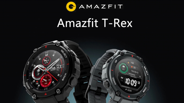 Smartwatch AMAZFIT T-Rex, Android/iOS, silicon, Rock Black 3