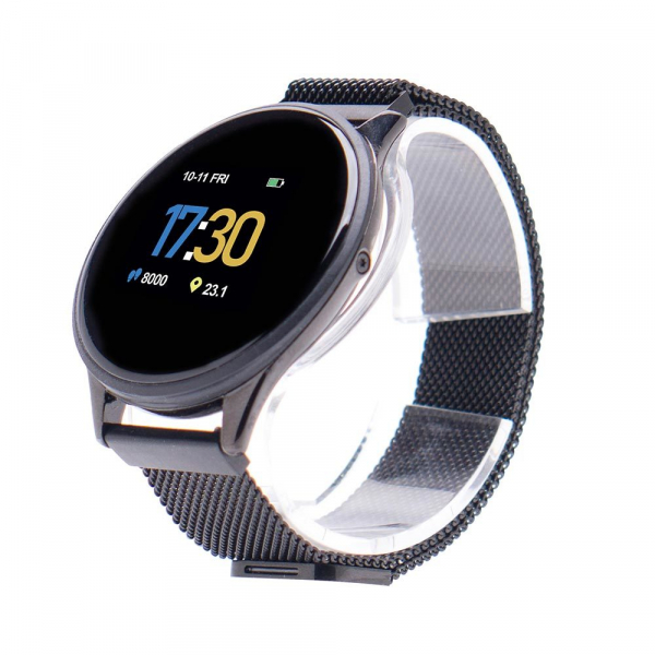 Smartwatch E-BODA, Android/iOS, silicon, negru 1