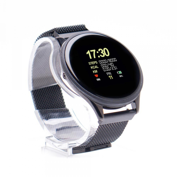 Smartwatch E-BODA, Android/iOS, silicon, negru 2