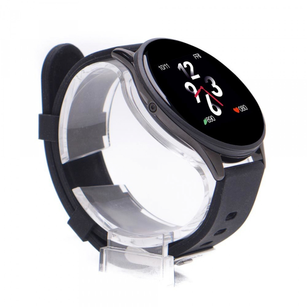 Smartwatch E-BODA, Android/iOS, silicon, negru 3