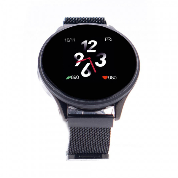 Smartwatch E-BODA, Android/iOS, silicon, negru 0