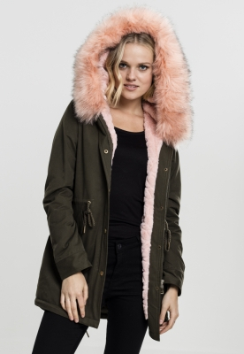 Geaca Ladies Peached Teddy Lined Parka Marime M 0