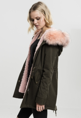 Geaca Ladies Peached Teddy Lined Parka Marime M 1