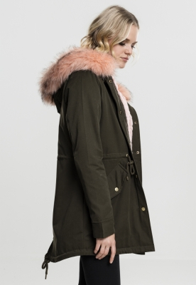 Geaca Ladies Peached Teddy Lined Parka Marime M 3