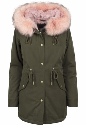 Geaca Ladies Peached Teddy Lined Parka Marime M 4