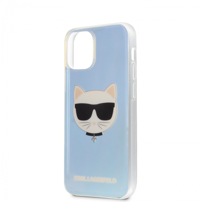 Husa Cover Karl Lagerfeld TPU Choupette Head Iridescente pentru iPhone 12 Mini Clear 2