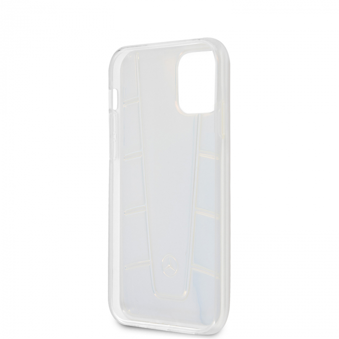 Husa Cover Mercedes Line Iridescent pentru iPhone 12 Mini Clear 2