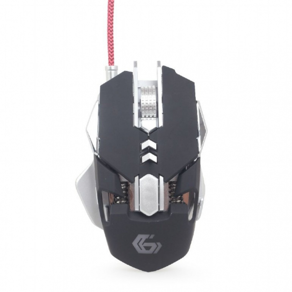 MOUSE GEMBIRD gaming, cu fir, USB, optic, 4000 dpi, butoane/scroll 7/1, iluminare, butoane programabile, negru / gri 5