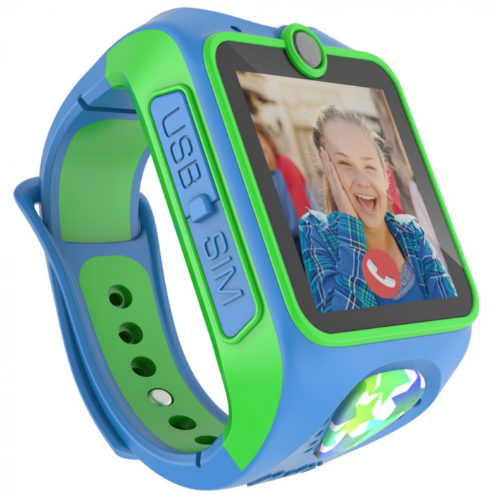 Ceas smart Smartwatch Junior 3G cu apel video,Albastru 2