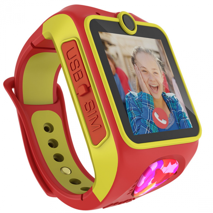 Ceas smart Smartwatch Junior 3G cu apel video,Rosu 1
