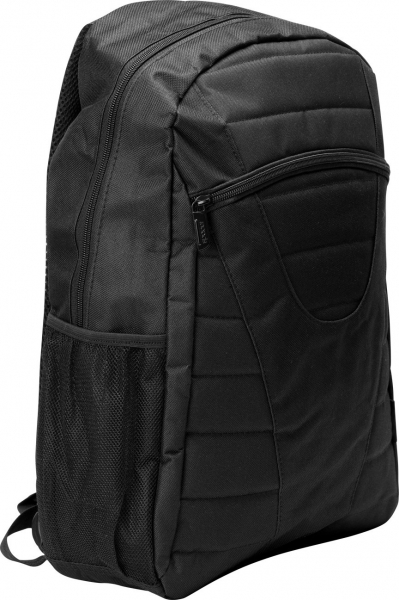 "Rucsac pt. notebook de max. 15.6″, 1 compartiment, buzunar frontal, buzunar lateral x 2, waterproof, nylon, negru, ""Buddy"" 1"