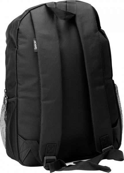 "Rucsac pt. notebook de max. 15.6″, 1 compartiment, buzunar frontal, buzunar lateral x 2, waterproof, nylon, negru, ""Buddy"" 2"