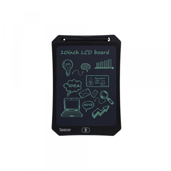 "Tableta LED pentru scris si desenat, interactiva, e-learning, 10"" display, black, baterie CR2025 0"