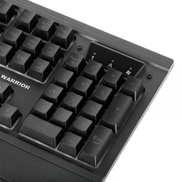 Tastatura gaming cu fir Warrior Kruger Matz GK-70, 104 taste, LED, Negru 4