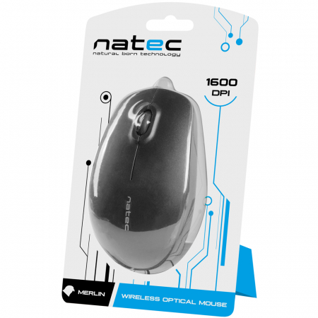 Mouse wireless Natec Merlin black4
