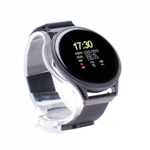 Smartwatch E-BODA, Android/iOS, silicon, negru2