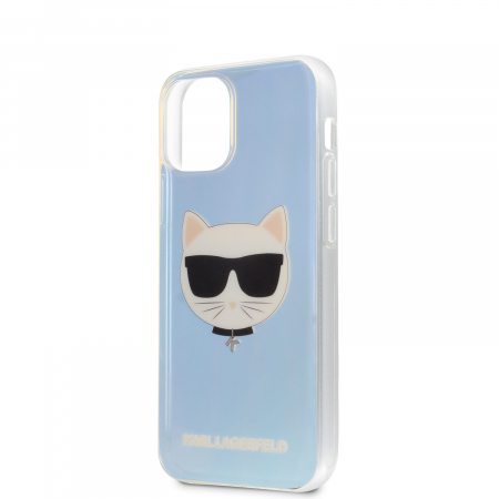 Husa Cover Karl Lagerfeld TPU Choupette Head Iridescente pentru iPhone 12 Mini Clear2