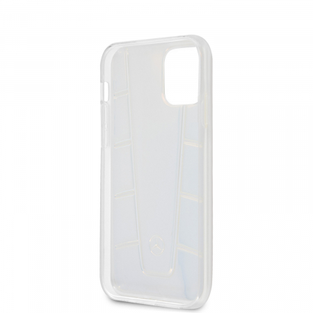 Husa Cover Mercedes Line Iridescent pentru iPhone 12 Mini Clear2
