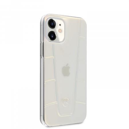 Husa Cover Mercedes Line Iridescent pentru iPhone 12 Mini Clear1