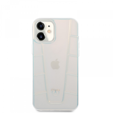 Husa Cover Mercedes Line Iridescent pentru iPhone 12 Mini Clear3